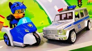 Мультики для детей. Щенячий патруль и Полицейские машинки в мультике – Кот на крыше. Мультфильмы