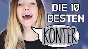 Die 10 BESTEN Konter gegen DUMME Sprüche!