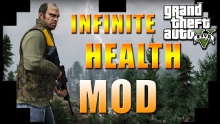 GTA 5 PC - INFINITE HEALTH FOREVER MOD!! TRAINER ADD-ON!