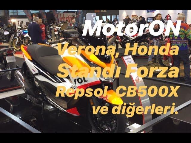 Verona 2019, uzun Honda standı videosu