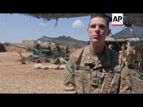 US artillery supports Iraqi forces in Mosul