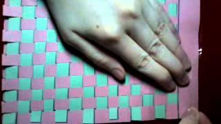 як зробити макет сатинового переплетення з паперу