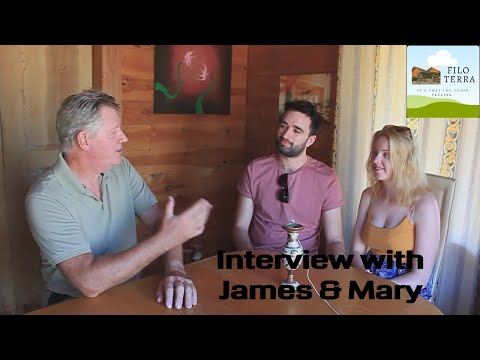 Bed and Breakfast in Europe, guest interview with James and Mary from Cardiff.