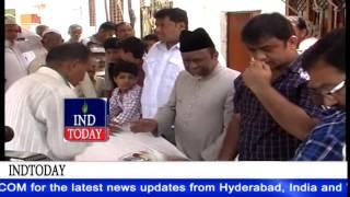 AIMIM MLA Ahmed Pasha Quadri daura in Moghalpura and distributes Sr Citizens cards