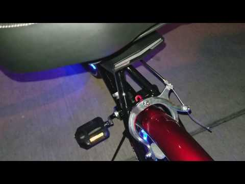 2 Laser Bicycle Bike Indicator Signal LED Rear Tail Light Wireless Remote USB