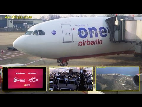Air Berlin A330-200 Oneworld special colors Düsseldorf to Curacao! [AirClips full flight series]