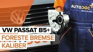 Hvordan og hvornår skifte Bremsecaliper bag højre VW PASSAT Variant (3B5): videovejledning