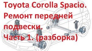 Ta'mirlash oldida to'xtatib turish Corolla 1-qism Spacio. (Raf, vypressovyvaniem to'p, qaytish hasharotlar olishdan)