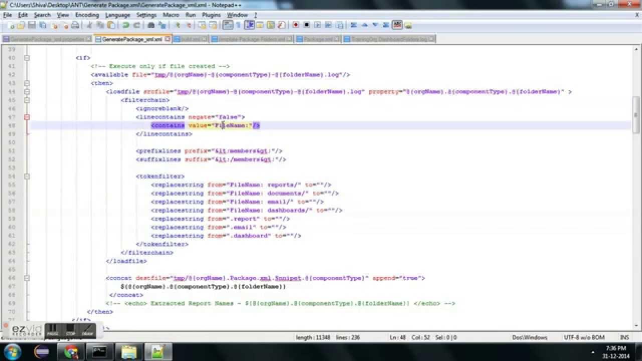 Auto generate Package xml using ANT and Metadata API