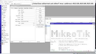 как поменять MAC адрес на роутере Mikrotik через New Terminal