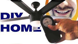 How to Install a Remote Control Ceiling Fan