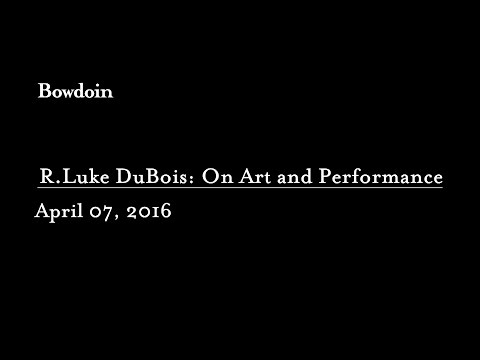 "Matthew McLendon: ""R. Luke Dubois: On Art and Performance"""