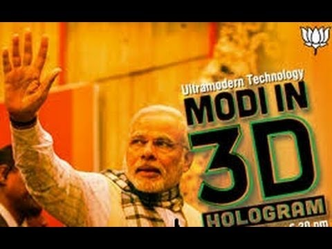Watch: Narendra Modi's hi-tech Election Campaign with 3-D