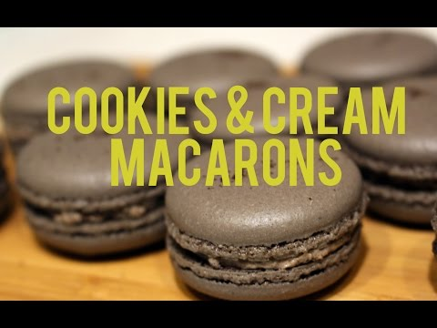 Recipe: Cookies & Cream Macarons (Italian Method)