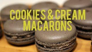 recipe cookies cream macarons italian method