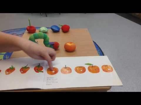 The very hungry caterpillar by Eric Carle read by Lauren at story time