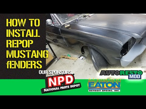 How To Install Reproduction Mustang Front Fenders 1965 1966 Episode 317 Autorestomod