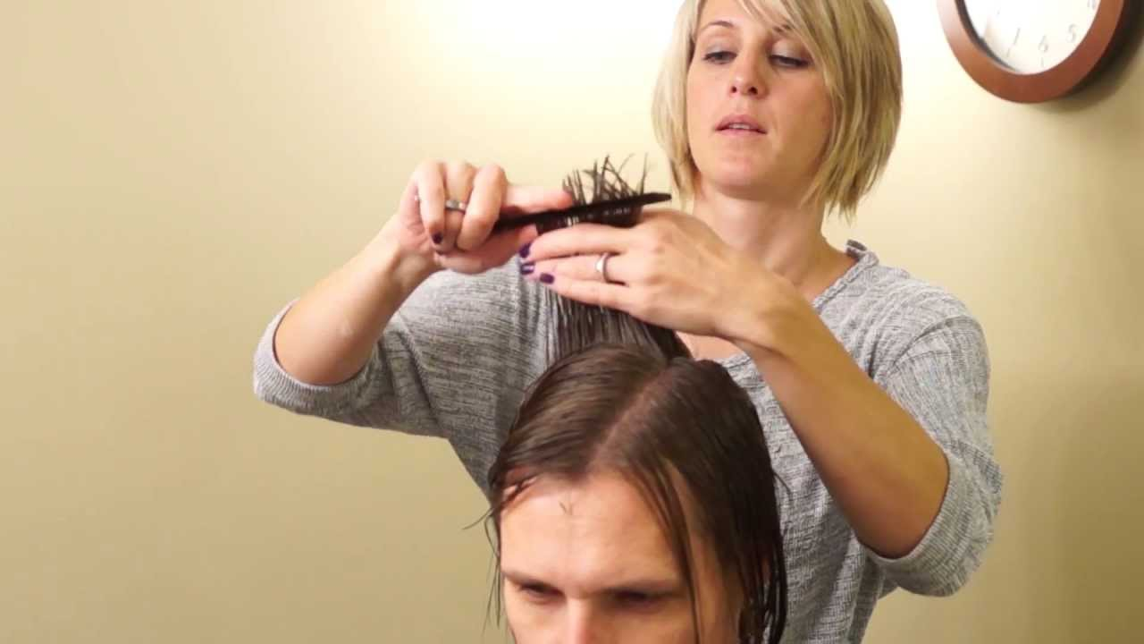 How to Cut Long Mens Hair // Long Men39;s Haircut // haircuts tutorials