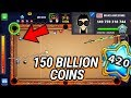 8 ball pool: 150 BILLION COINS / LV 420 / Awesome trick shots - Mr Miss VS Mani Awesome / HD / 2018