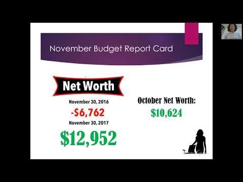 November 2017 Budget Report Card | $9,974.10 | KeAmber Vaughn