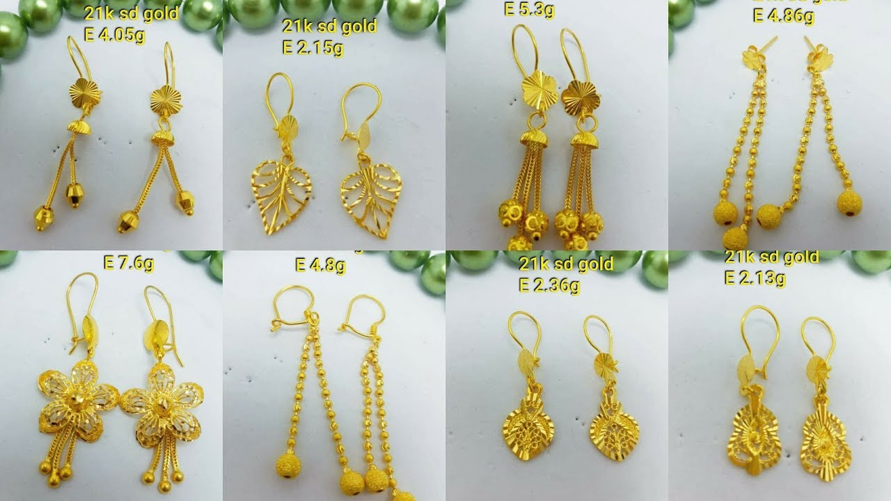 Saudi Gold Earrings Designs With Weight