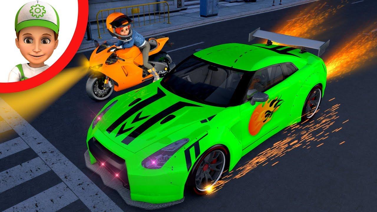Fast cars. Best cartoons compilation episodes 98-100