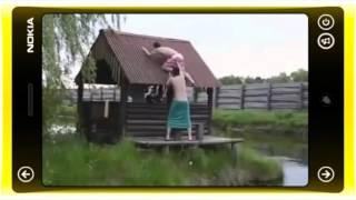Ржака  Упал с крыши смотреть прикол