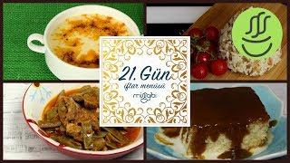 Ramazan 21. Gün İftar Menüsü: Düğün Çorbası - Şehriyeli Pilav - Etli Taze Fasulye - Trileçe