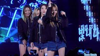 마마무(MAMAMOO)[4K직캠]Mr.애매모호(HIT Song ReMix)@20151103 Rock Music