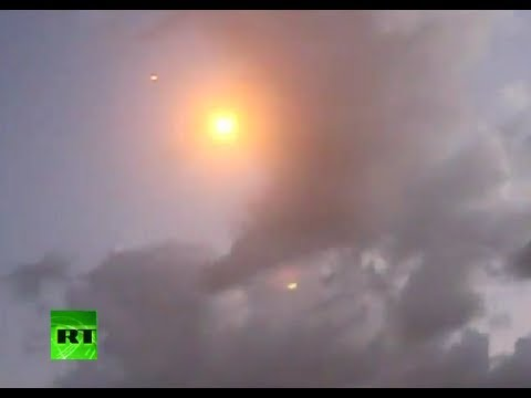 Rare Video: Hamas Rockets Intercepted By Israel's Iron Dome
