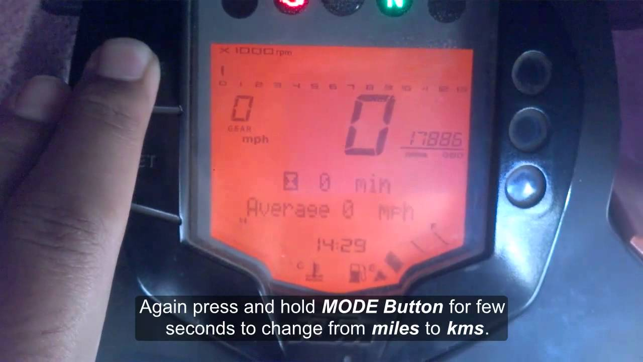 how to change kms to miles on speedometer in ktm duke 200 youtube. Black Bedroom Furniture Sets. Home Design Ideas