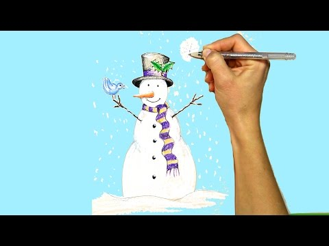 Snowman Picture Drawing Painting Coloring | Boyaboya