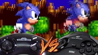 Sega Genesis Vs Sega Saturn - Sonic the Hedgehog