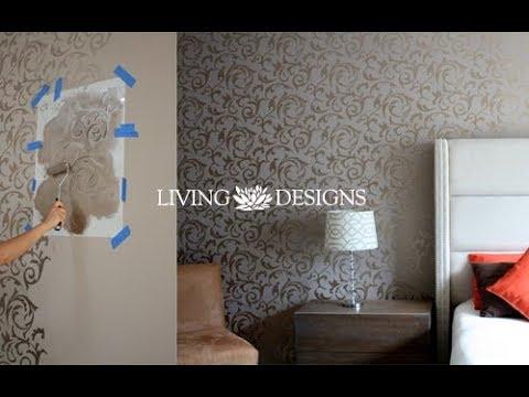 C mo pintar y decorar paredes con plantillas doovi - Como hacer plantillas para pintar paredes ...