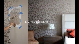 Cómo decorar una recámara con Plantillas stencil Living Designs