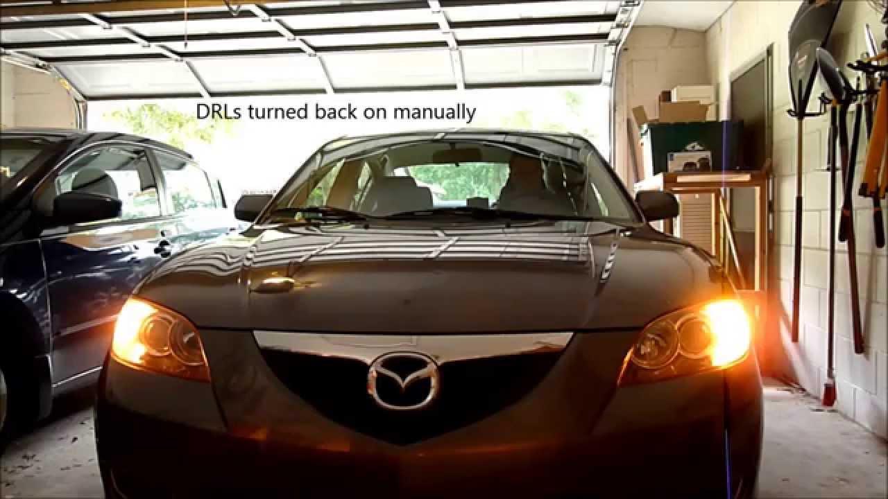 Drl 1 Daytime Running Lights Mazda 3