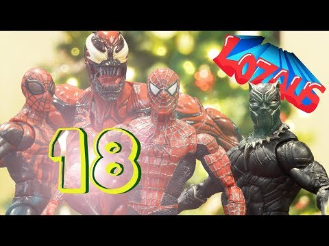 SPIDERMAN STOP MOTION Action Video Part 18 with Black Panther