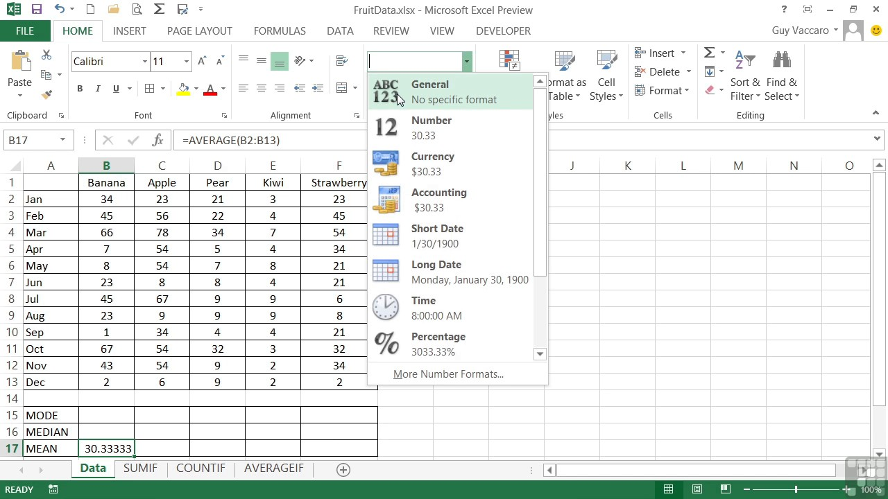 How To Use Excel Formula (AVERAGE, MODE, MEAN, And MEDIAN