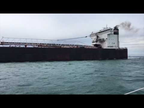 Lake St Clair Channel and Freighters