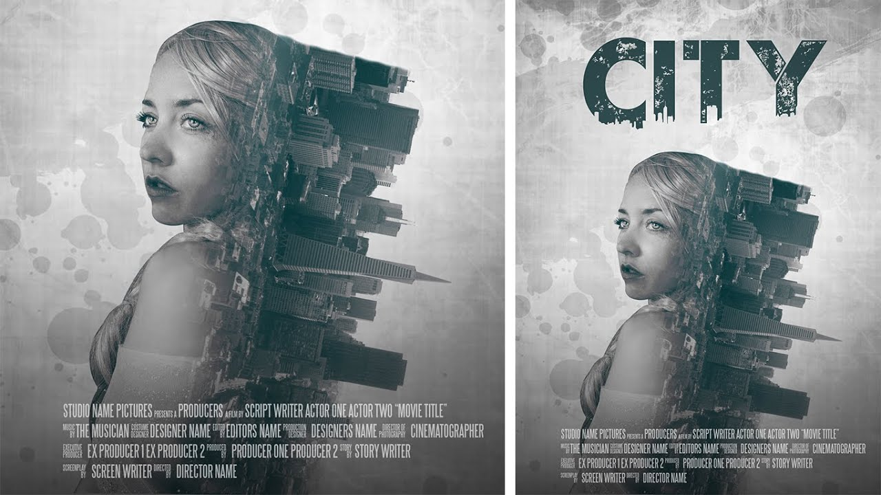 Poster design in photoshop - Photoshop Manipulation Film Poster Design Double Exposure Effect Tutorial Youtube