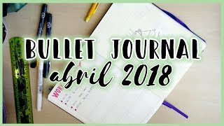 Bullet Journal · Diario Bullet ABRIL 2018 | Christine Hug