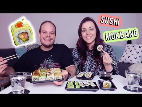 Mukbang ❤ Sushi eten met foef | Beautygloss