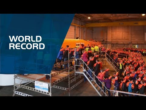 PALFINGER MARINE - WORLD RECORD LIFEBOAT BOARDING
