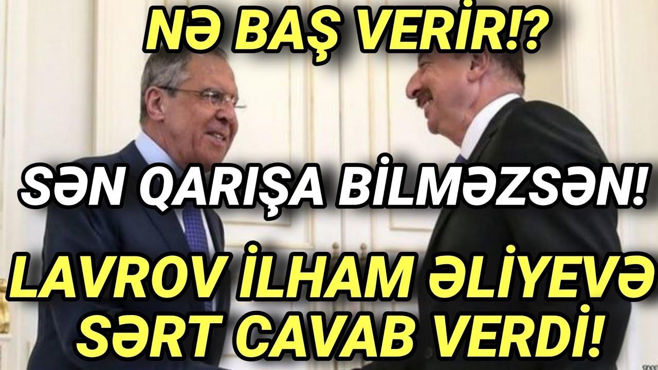 LAVROVDAN İLHAM ƏLİYEVƏ SƏRT CAVAB