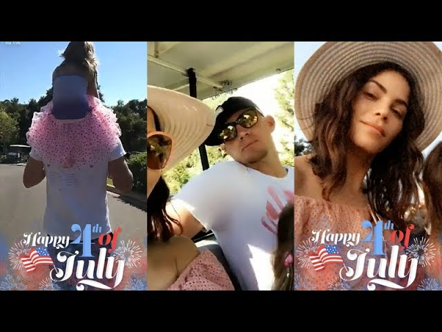 Jenna Dewan with Channing Tatum and daughter  Everly Tatum on Snapchat   July 4 2017