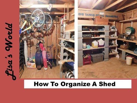 10x12 Shed Organization