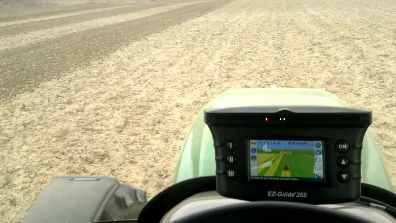 John deere 6320 trimble ez guide 250 youtube john deere 6320 trimble ez guide 250 sciox Images