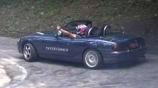 2x CRAZY Mazda MX-5 Miata NB Hillclimb Mountain Touge Drift! ドリフト 峠