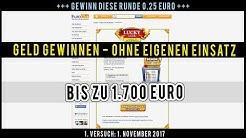 Geld gewinnen ohne eigenen Einsatz. Luckyclix - Bis zu 1.700 Euro