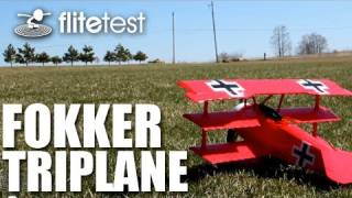 Flite Test - Fokker Triplane - REVIEW This week Flite Test finally ...
